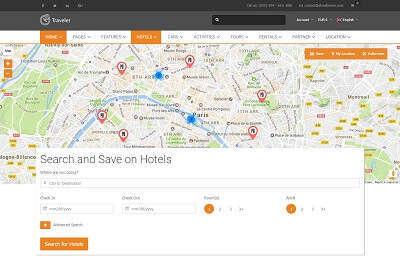 List Hotels - Full Map